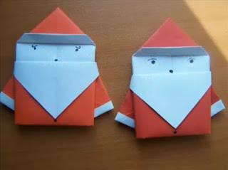 Christmas Origami - Origami Santa Claus