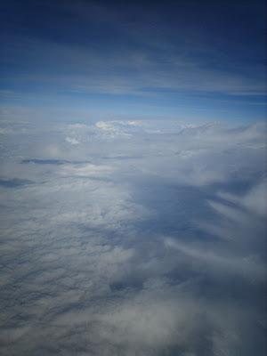 da janela do avião...