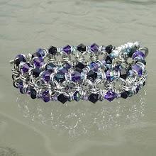 Duet chain maille and Swarovski bracelet