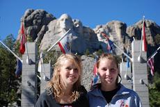 Julia and Steph at Mt. Rushmore