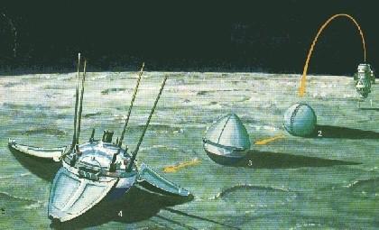 Image result for luna 9 moon landing
