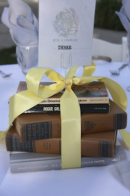 wedding book centerpiece decoration