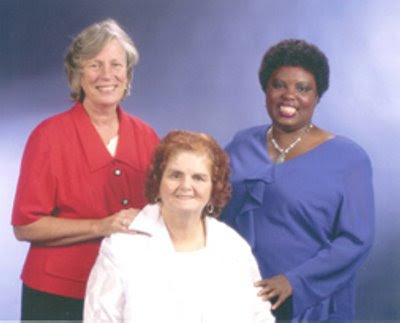 Left to right is Sue Jamieson, Elaine Wilson, and Lois Curtis