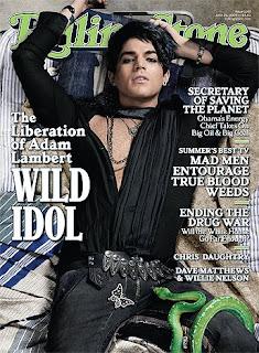 Adam Lambert Rolling Stone Magazine Cover I'm Gay