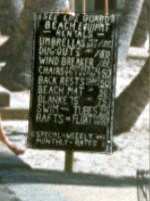 mid century tiki signage