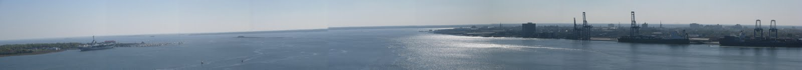 View of Charleston Harbor from Ravenel Bridge