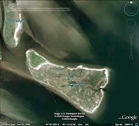 Google Earth image, Ossabaw Sound