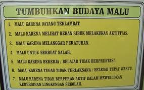 BUDAYA MALU