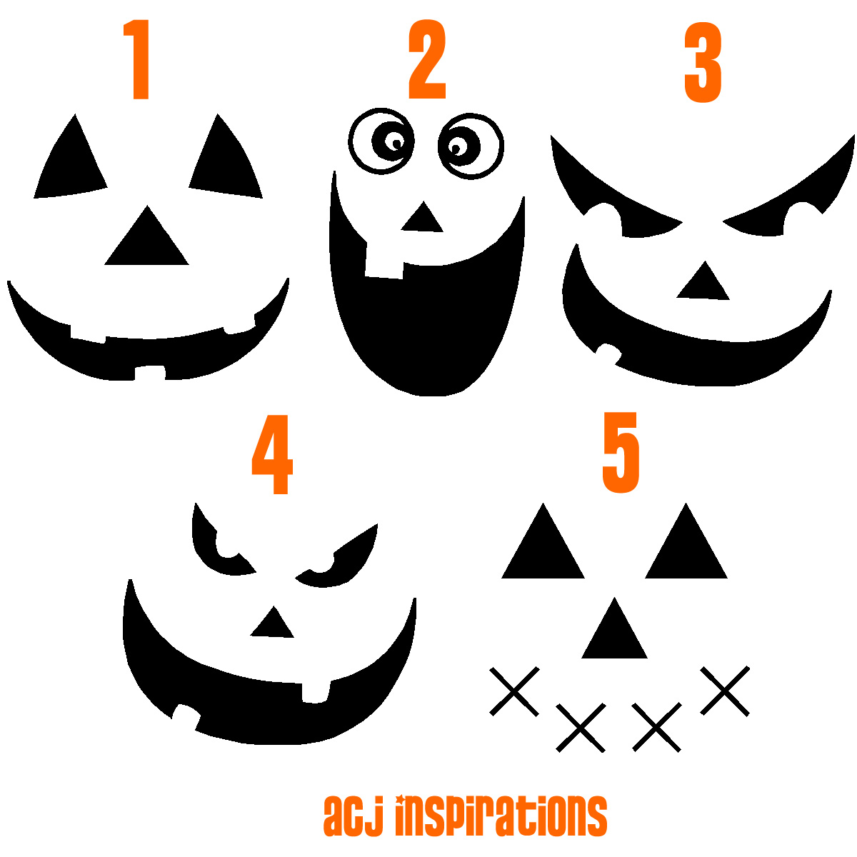 Happy Pumpkin Face Stencil Of our 2 pumpkin faces is.
