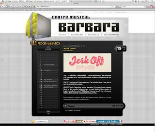 page intérieure du site du centre musical barbara