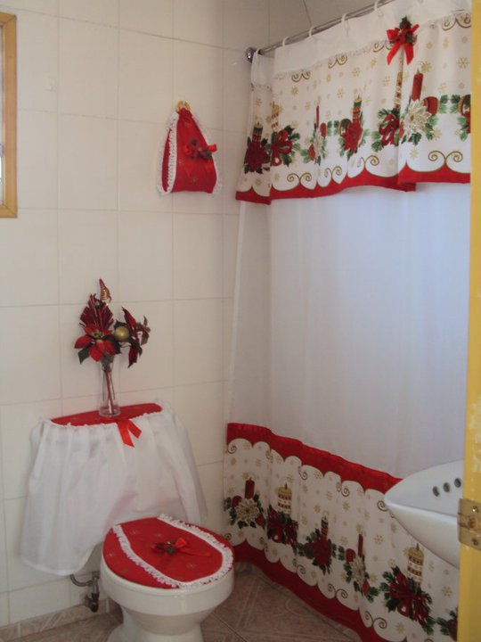 Cortinas de baño con diseno navideno ~ dikidu.com