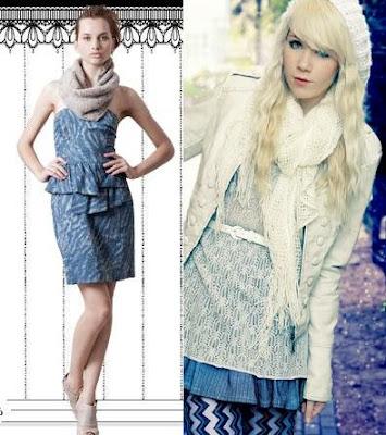 combinação de vestidos taomara que caia com cachecol