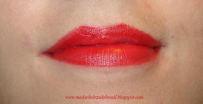 Cor vermelho da paleta de batons Catherine Hill