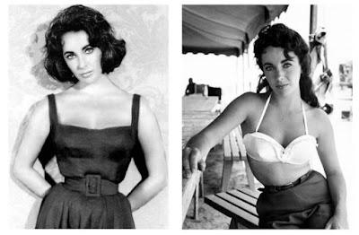 Elizabeth Taylor e saias de cintura alta