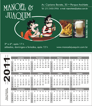 Cartão de Visita c/ calendário