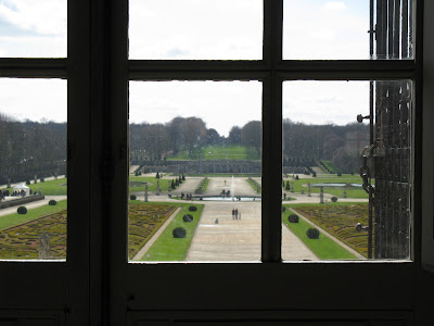 a window at Chateau Vaux le Vicomte