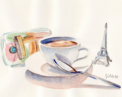 Chez Clement watercolor - ParisBreakfasts