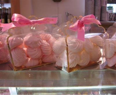 Fauchon pink meringues