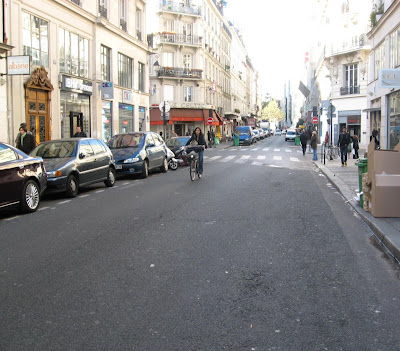 empty streets in the Marais