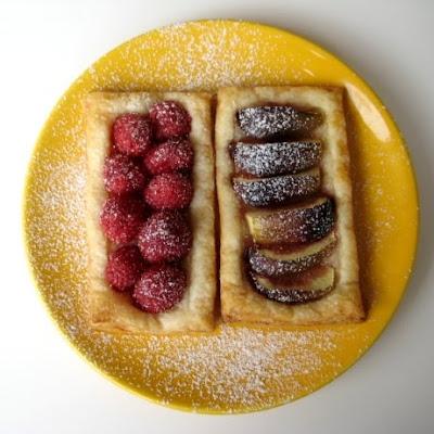 puff pastry fruit tart mango fruit