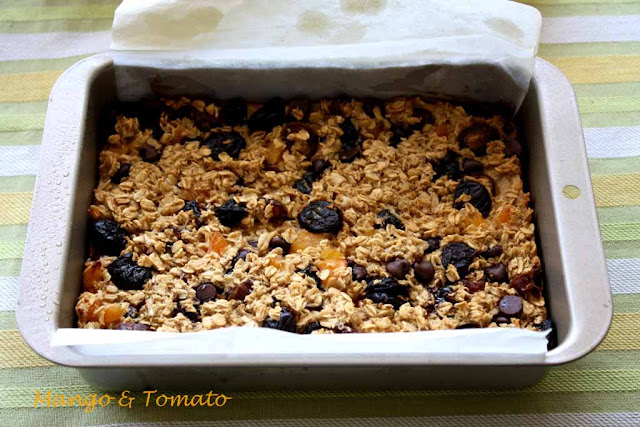 healthy oatmeal fruit bars recipe mango fruit