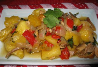 gluten with pineapple