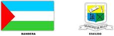 Bandera y Escudo de Bello - Antioquia