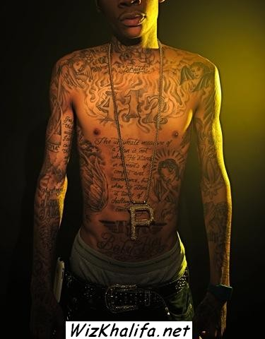 wiz khalifa tattoos on his back. Wiz+khalifa+tattoos+pics