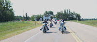 Leaving Thorsby with about 50 riders