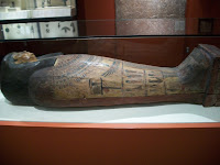 Sarcophagus on display in the Egypt Room