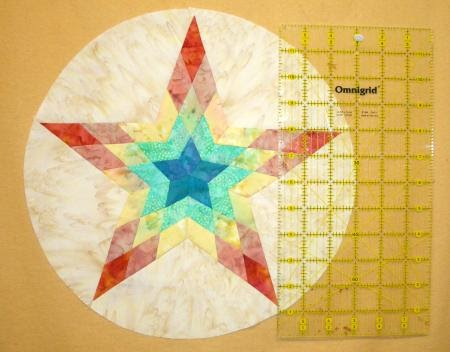 Quilting at Windmills: new 5 pointed star feathered sun quilt