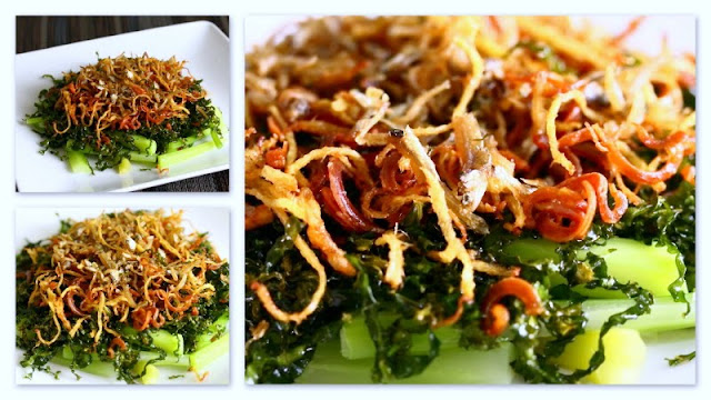 Home-cooked Stir-fried Ginger Kale (Kai Lan)