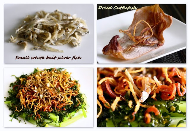 Ingredients for Home-cooked Stir-fried Ginger Kale (Kai Lan)