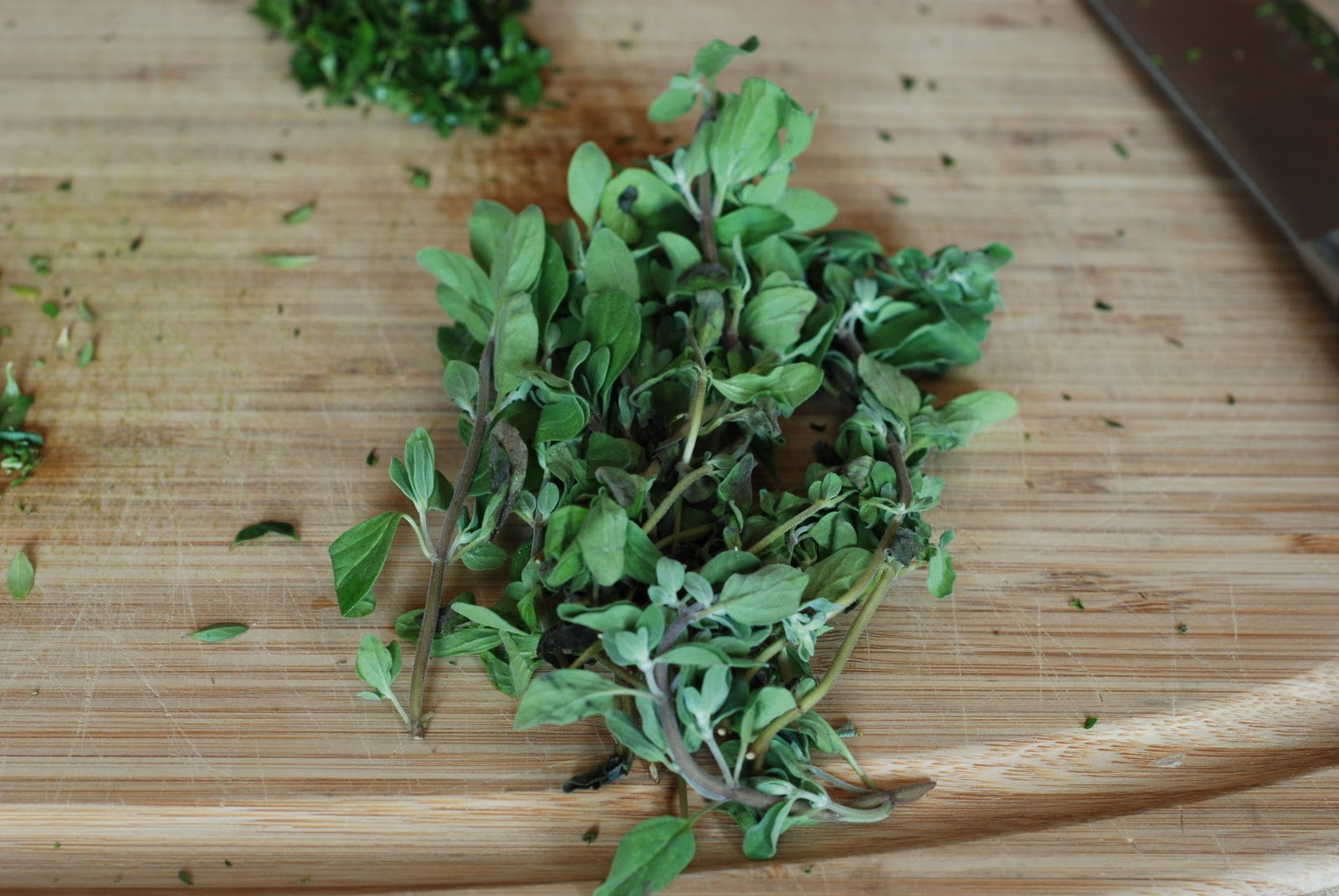 was too busy singing and almost forgot the marjoram. Oh my, I had ...