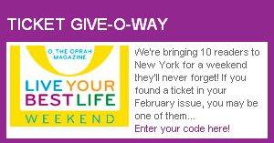 Oprah Live Your Best Life Weekend Instant Win Sweepstakes
