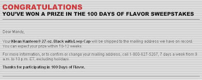 Marlboro 100 Days Of Flavor Sweepstakes Winning Email