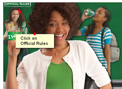 how to play the MyCokeRewards Sprite Bring Home the Green Back to School instant win game from MyCoke Rewards