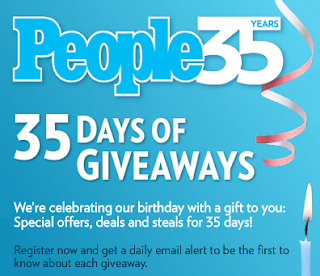 People Magazine 35 Days of Giveaways Daily Prize List