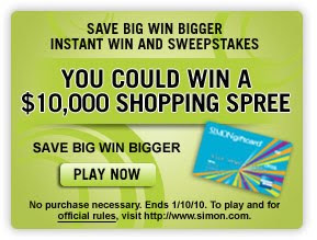 Save Big Win Bigger Instant Win Sweepstakes