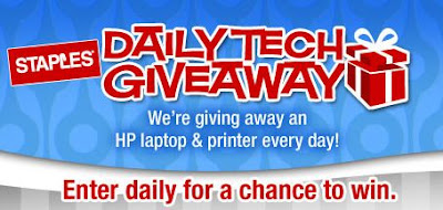 Staples Daily Tech Giveaway, Win a laptop and printer