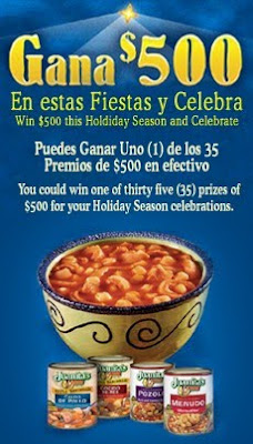 Juanita's Foods Holiday Season Sweepstakes