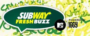 MTV Subway Fresh Buzz Sweepstakes