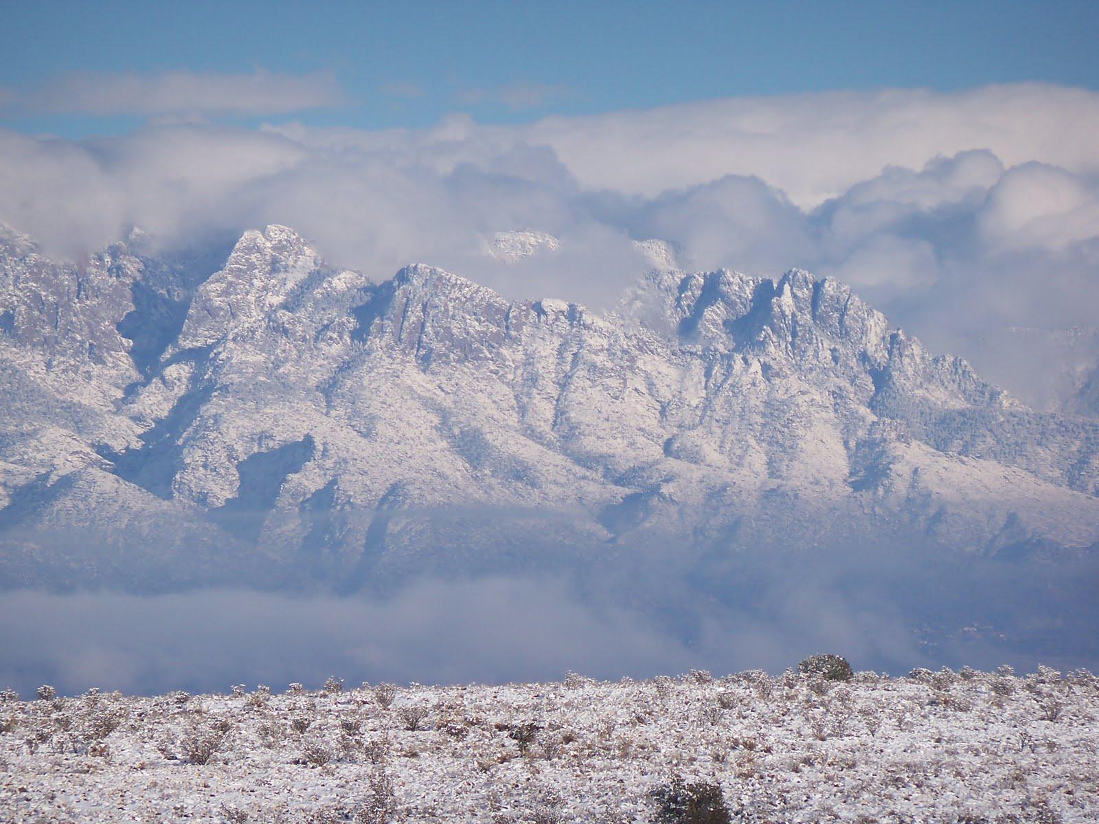 Sandia Mountains Snow Sandia Mountains in Snow
