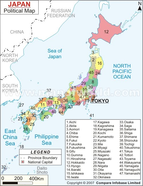 a map of china and japan. of Japan,china,North Korea