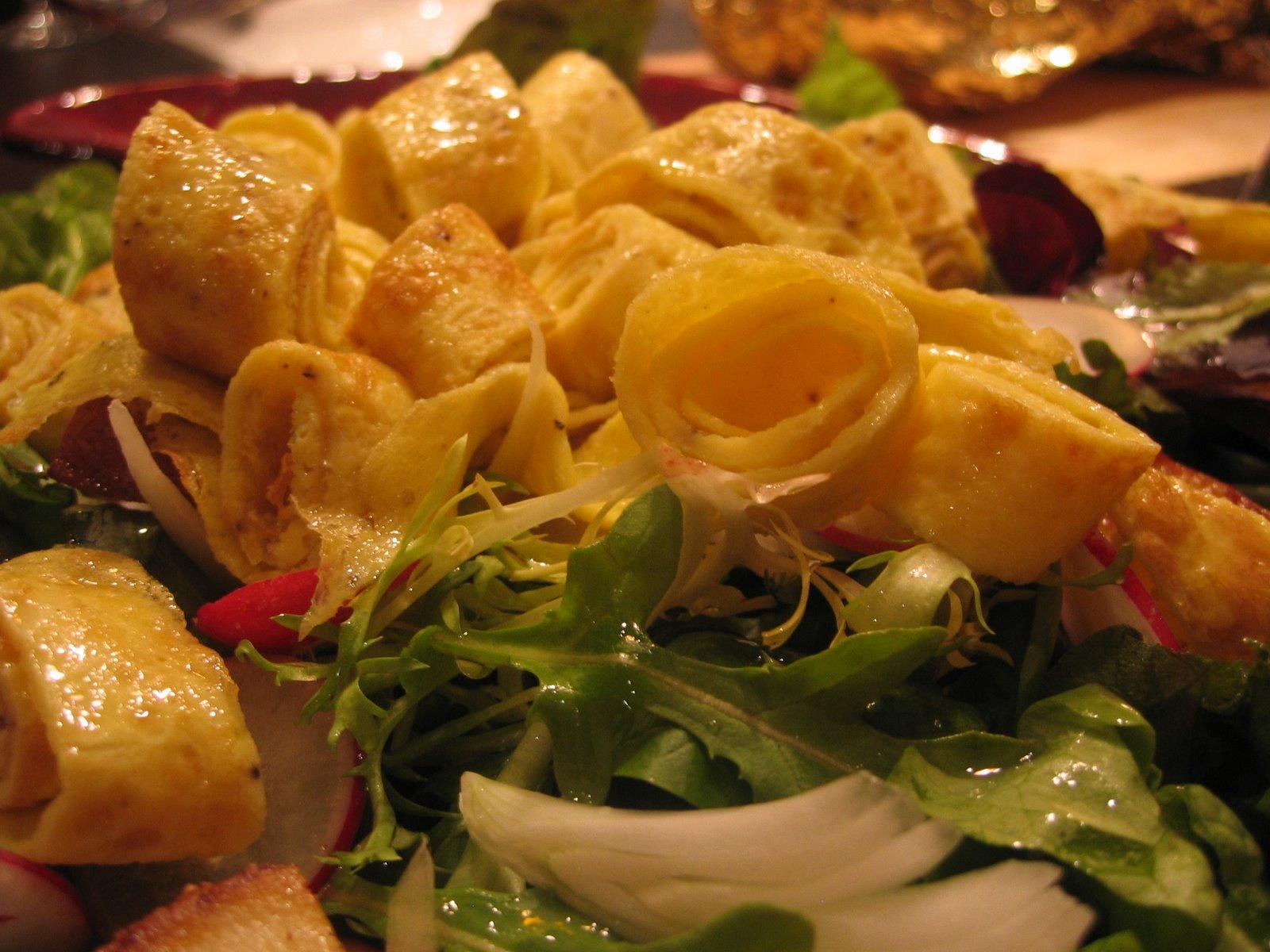 Lovely Egg Ribbon Salad, inspired by Jamie Oliver
