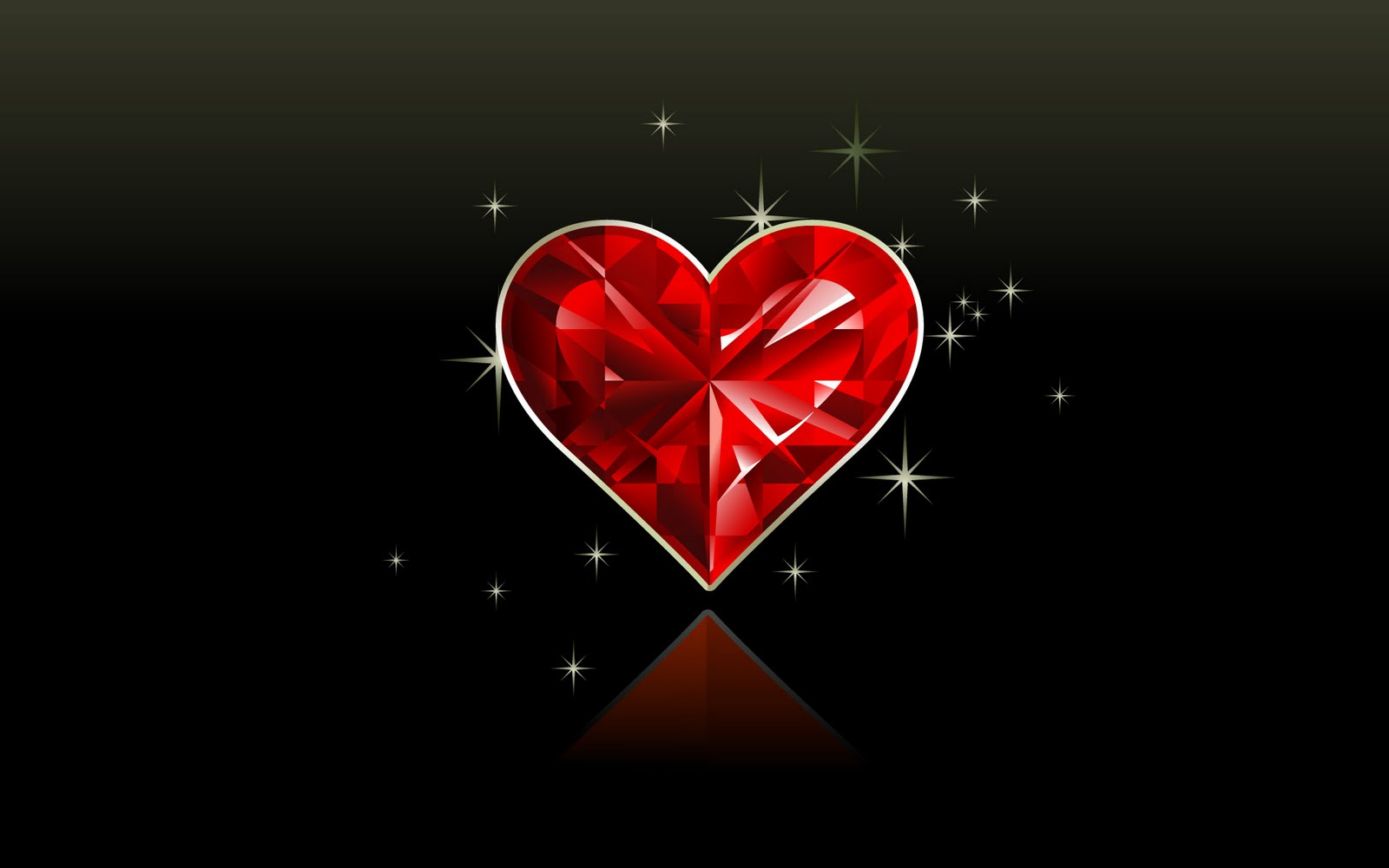 Valentine Diamond Love Wallpaper   free download wallpapers