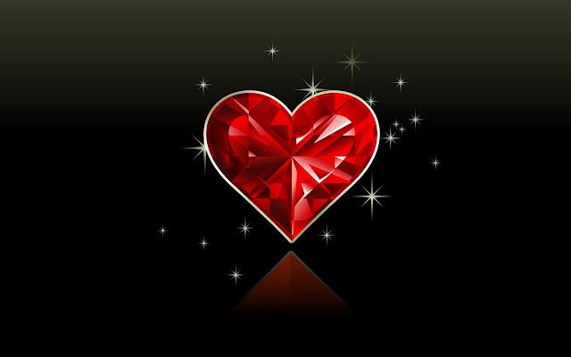 Valentine Diamond Love Wallpaper - free download wallpapers