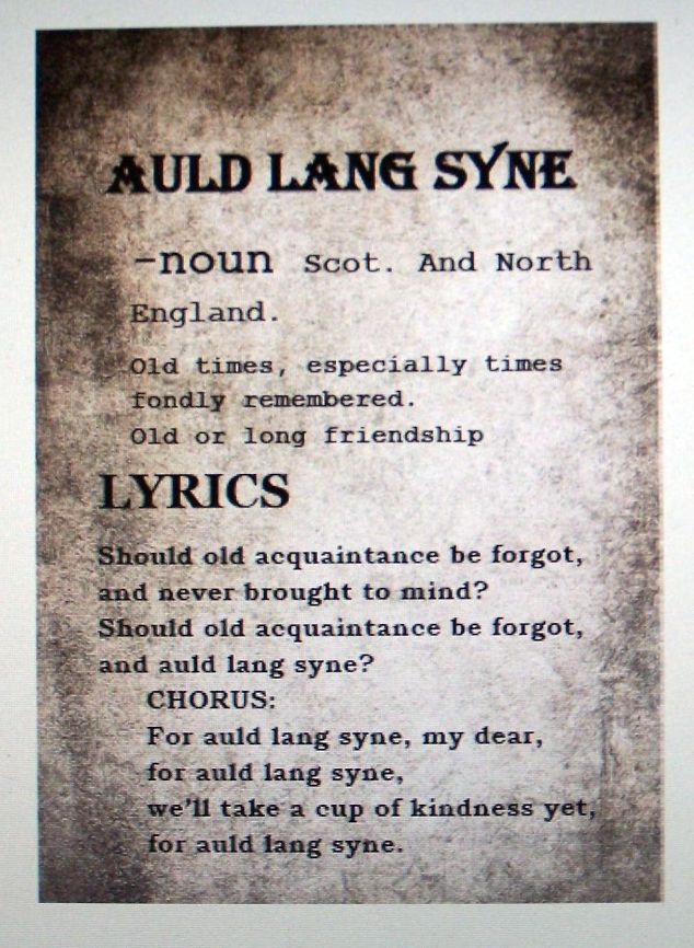 This is a picture of Légend Auld Lang Syne Lyrics Printable