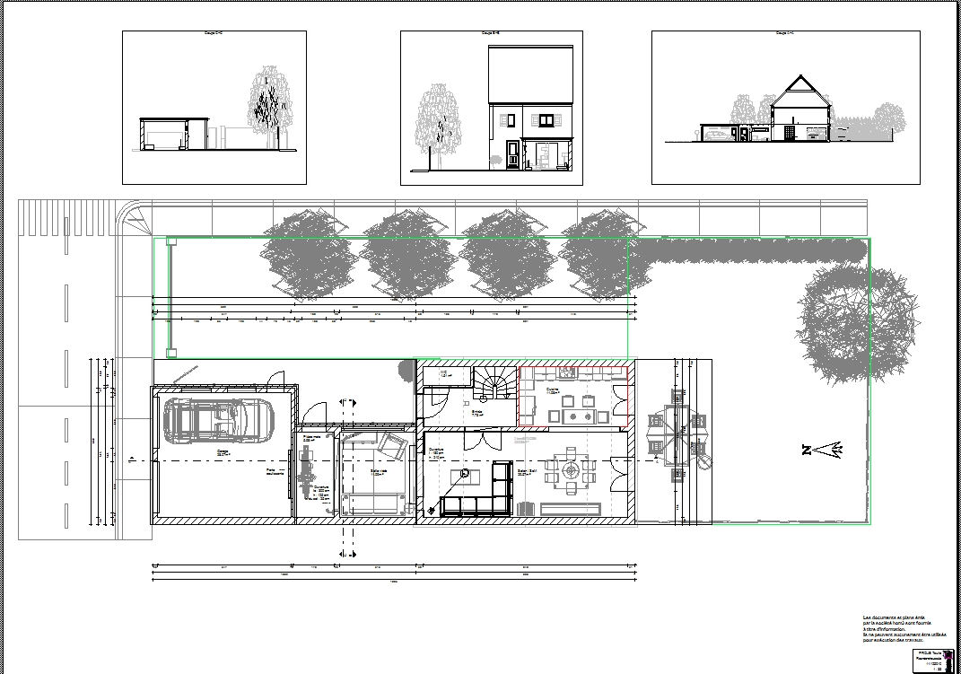 Elevation Et Vue En Plan : Hom le conseil deco construction d une extension et