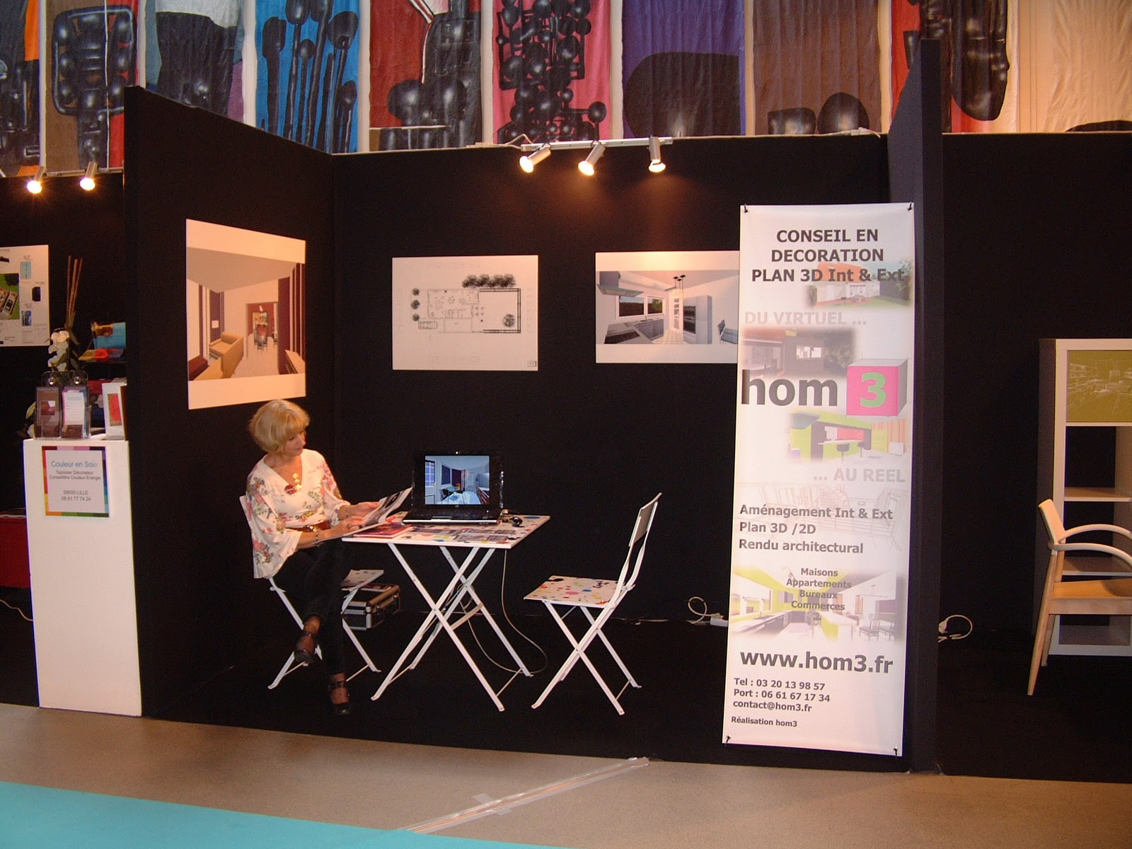 hom3 le conseil deco hom3 au salon amenago 2010. Black Bedroom Furniture Sets. Home Design Ideas